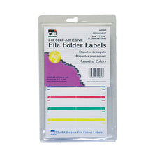 Self-Adhesive File Folder Labels, Assorted