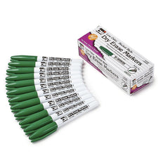 Pocket Style Dry Erase Markers, 12 Green