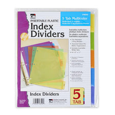 Index Dividers, 5 Tab Multicolor