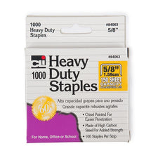 "Heavy Duty Staples 5/8"", 1,000 Per Box"