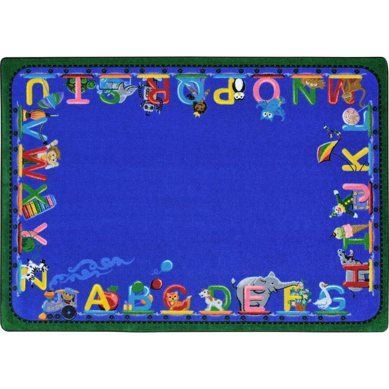 "Choo Choo Letters™ Circle Time & Seating Rug, 7'8"" x 10'9"" Rectangle"