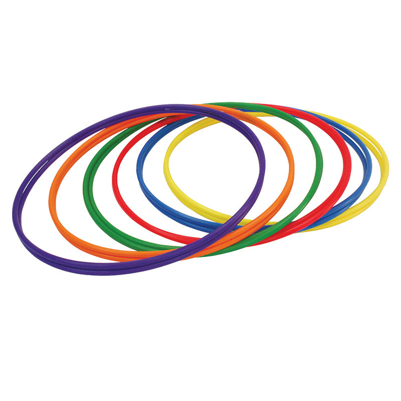 Plastic Hoops 30 Inches, 12Pk (2 Each Of 6 Colors)