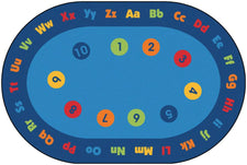 Circletime Early Learning KID$ Value PLUS Discount Classroom Circle Time Rug, 8' x 12' Oval