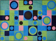 "City Block© Kid's Play Room Rug, 5'4"" x 7'8"" Rectangle Green"