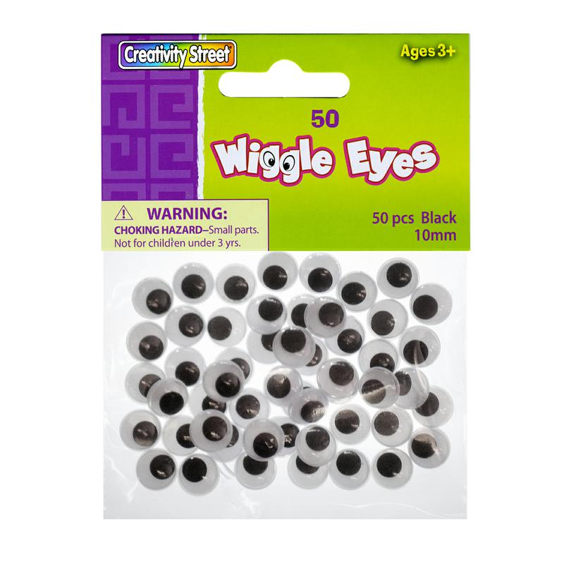 Wiggle Eyes - 50 Pack Black