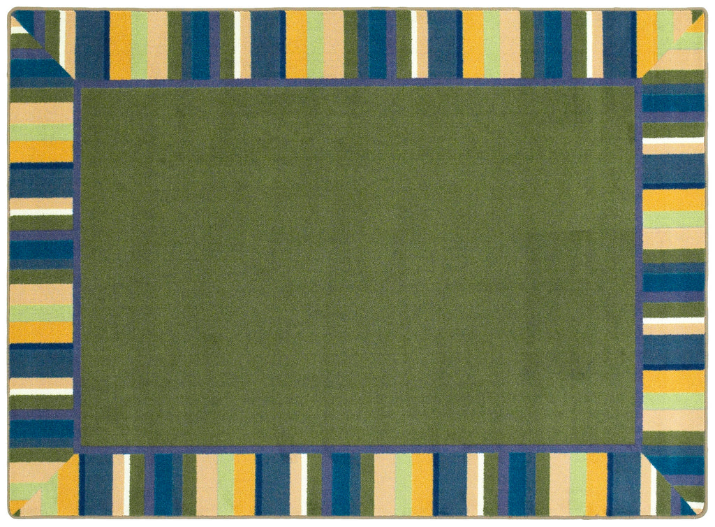 "Clean Green© Classroom Rug, 3'10"" x 5'4"" Rectangle Bold"