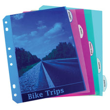Mini Size 5 Tab Poly Index Dividers Pack Of 5