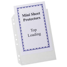 Mini Size Top Loading Clear Poly Sheet Protectors
