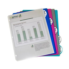 5 Tab Poly Index Dividers, Assorted 5 Standard Tab