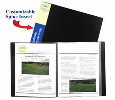 C-Line Bound 12 Pocket Sheet Protector Presentation Book