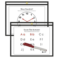 Horizontal Reusable Dry Erase Pocket