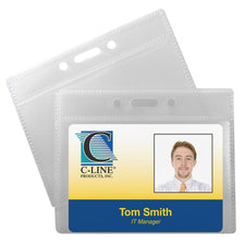 C-Line Poly ID Badge Holders Horizontal 12Pk