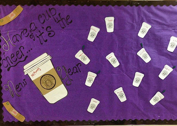 Quot Have A Cup Of Cheer It S The New Year Quot Bulletin Board