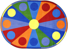 "Color Wheel© Classroom Circle Time Rug, 7'8"" x 10'9""  Oval"