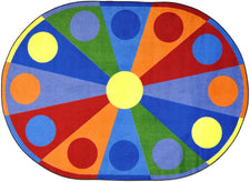 "Color Wheel© Classroom Rug, 5'4"" x 7'8""  Oval"