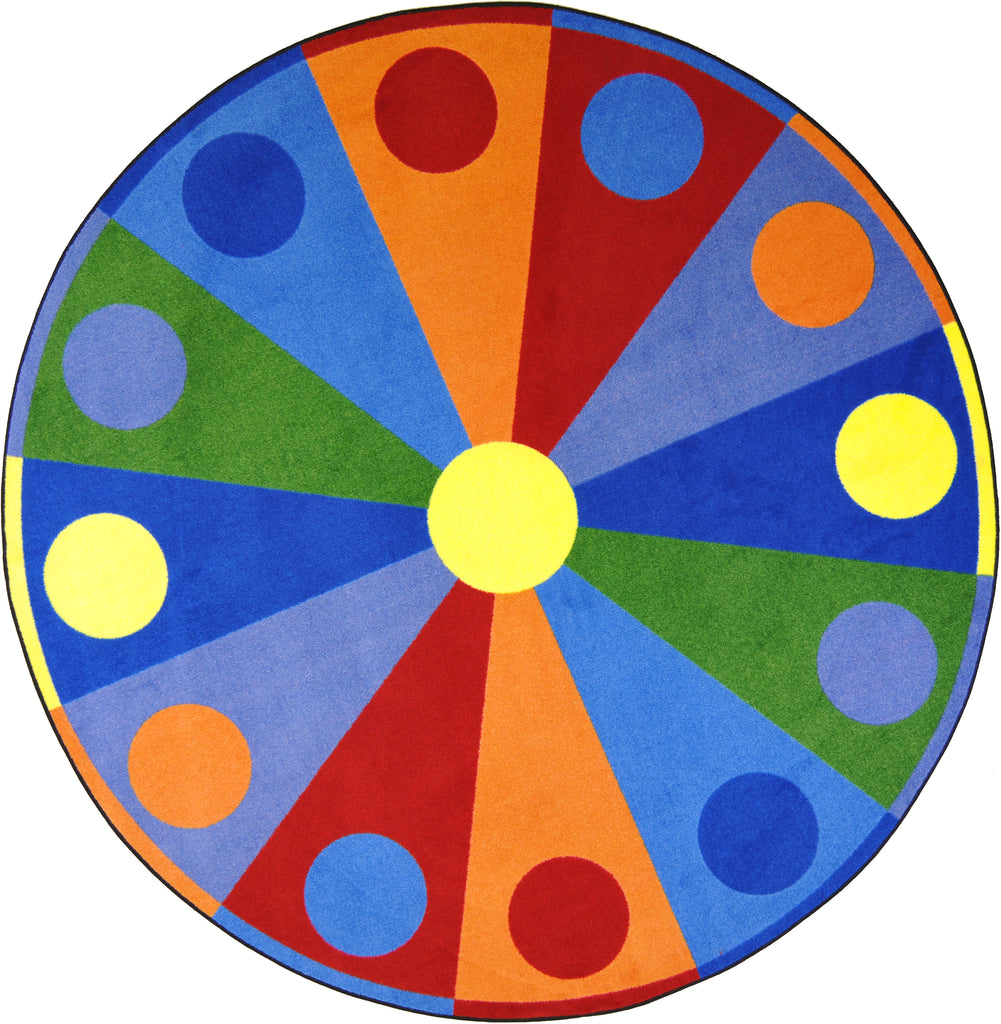 "Color Wheel© Classroom Circle Time Rug, 7'7""  Round"
