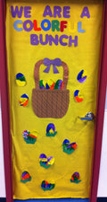 We're A Colorful Bunch - Easter Classroom Door Decoration