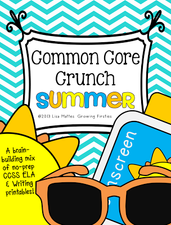 Common Core Crunch - Summer! CCSS ELA & Writing FREEbies