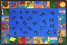 "Count On Me© Classroom Circle Time Rug, 7'8"" x 10'9"" Rectangle"
