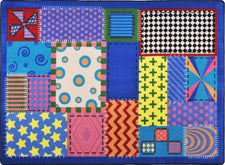 "Crazy Quilt© Classroom Rug, 5'4"" x 7'8"" Rectangle"