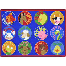 "Creature Calls™ Classroom Circle Time & Seating Rug, 5'4"" x 7'8"" Rectangle"