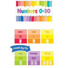 Painted Palette Numbers 0-30 Mini Bulletin Board Set