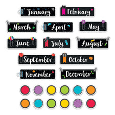 Bold & Bright Months of the Year Mini Bulletin Board Set