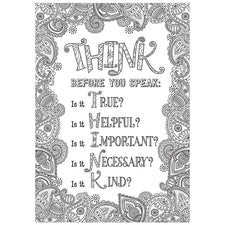 Color-Me Think before you speak Inspire U Poster