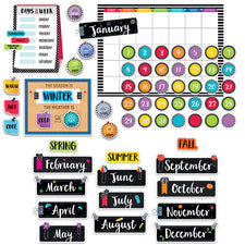 Bold & Bright Calendar Bulletin Board Set