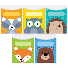 Woodland Friends Library Pockets - Standard