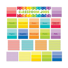 Painted Palette Classroom Jobs Mini Bulletin Board Set