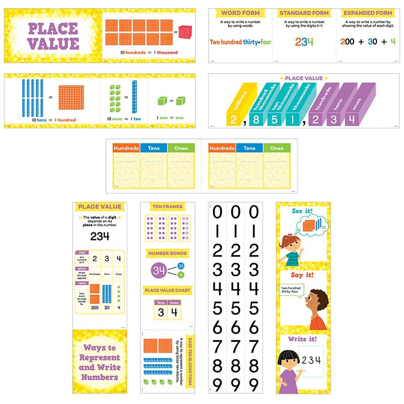 Place Value Mini Bulletin Board Set
