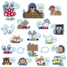 Creative Teaching Press Woodland Friends Peek-Overs Bulletin Board Set