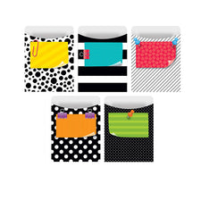 Bold & Bright Library Pockets-Standard