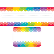 Rainbow Name Plate and Label Combo Set