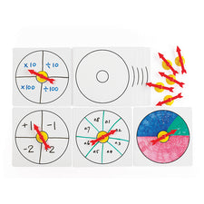 Learning Advantage 10 Suction Spinners with Whiteboards