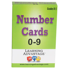 Number Cards 0-9, Black