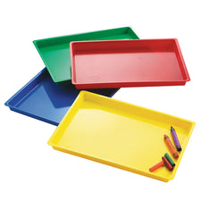 Multipurpose Trays, Set of 4 Assorted Colors