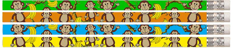 Dancin' Monkey 12Pk Motivational Fun Pencils
