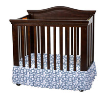 Bare is Best™ Dust Ruffle for Foundation's Compact Cribs, Geo Paisley (3 Pack)