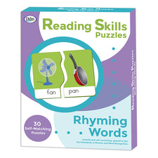 Reading Skills Puzzles: Rhyming Words