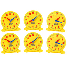 12 Hour Student Clock, Set of 6