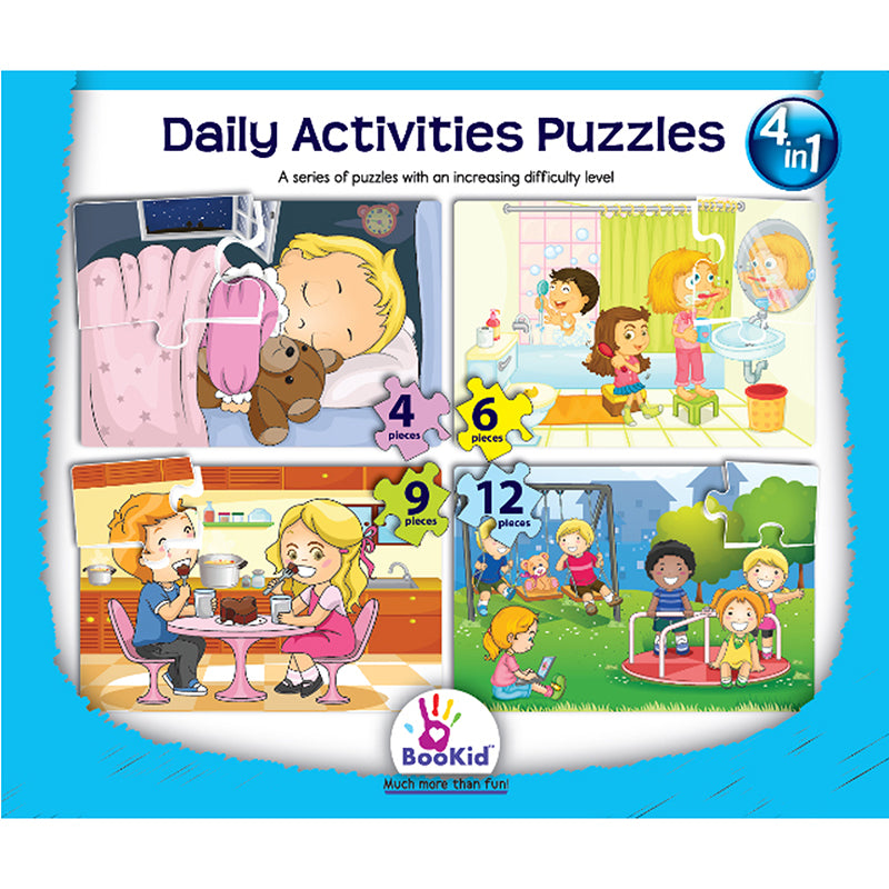 4-in-1 Puzzles: Daily Activities