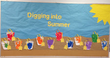 """Digging into Summer"" Bulletin Board Idea"