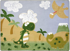 "Dino Fun© Kid's Play Room Rug, 3'10"" x 5'4"" Rectangle"