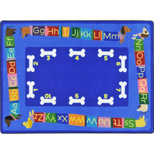 "Doggone Good Alphabet™ Classroom Seating Rug, 5'4"" x 7'8"" Rectangle"