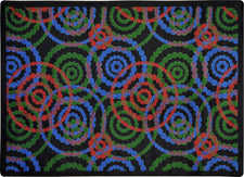 "Dottie© Classroom Rug, 3'10"" x 5'4"" Rectangle Colors"