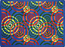 "Dottie© Classroom Rug, 7'8"" x 10'9"" Rectangle Rainbow"