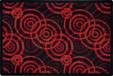 "Dottie© Classroom Rug, 3'10"" x 5'4"" Rectangle Ruby"