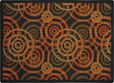 "Dottie© Classroom Rug, 3'10"" x 5'4"" Rectangle Warm Earth"